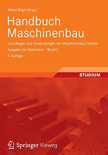 9783834818713: Handbuch Maschinenbau: Grundlagen und Anwendungen der Maschinenbau-Technik. Ausgabe für Österreich - Band 2 (German Edition)