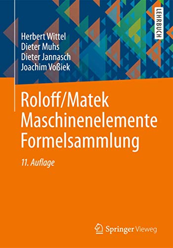 9783834825162: Roloff/Matek Maschinenelemente Formelsammlung (German Edition)