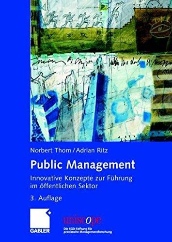 9783834900968: Public Management. Innovative Konzepte zur Führung im öffentlichen Sektor