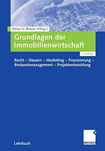 9783834903129: Grundlagen der Immobilienwirtschaft