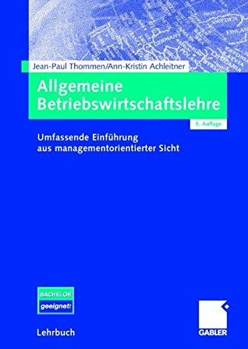 9783834903662: Allgemeine Betriebswirtschaftslehre