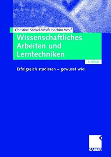 9783834903877: Wissenschaftliches Arbeiten und Lerntechniken