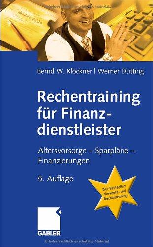 9783834904003: Rechentraining fnr Finanzdienstleister