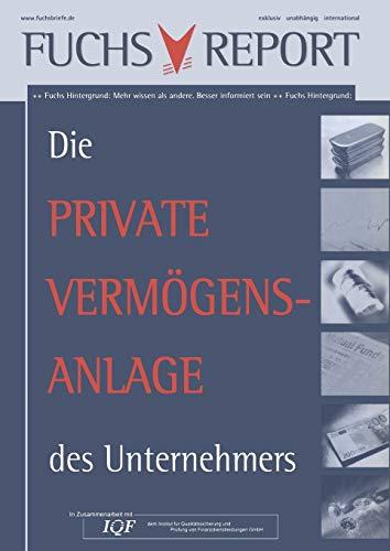 9783834905062: Die private Vermögensanlage des Unternehmers (German Edition)