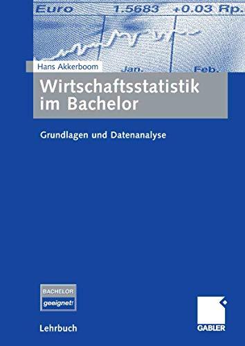 9783834905093: Wirtschaftsstatistik im Bachelor