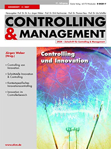 9783834906199: Controlling und Innovation (Zfcm-Sonderheft)