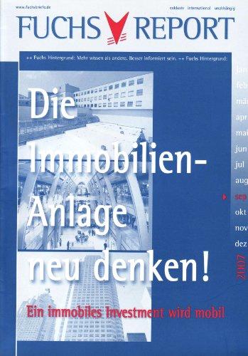 9783834907578: Die Immobilienanlage neu denken: Ein immobiles Investment wird mobil (German Edition)