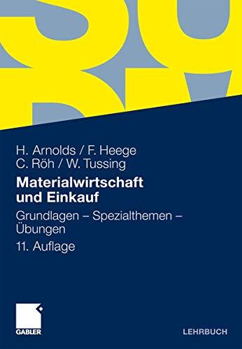 9783834908094: Materialwirtschaft und Einkauf: Grundlagen - Spezialthemen - Übungen