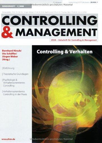 9783834908186: Controlling & Verhalten (ZfCM-Sonderheft)