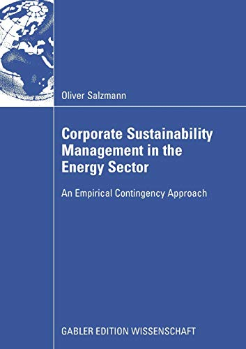 9783834908544: Corporate Sustainability Management in the Energy Sector: An Empirical Contigency Approach