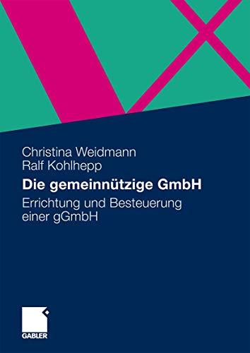 9783834914835: Die gemeinnützige GmbH: Errichtung und Besteuerung einer gGmbH