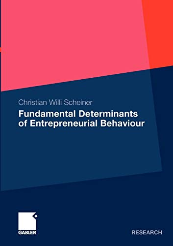 9783834915269: Fundamental Determinants of Entrepreneurial Behaviour
