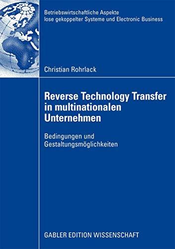 Reverse Technology Transfer in Multinationalen Unternehmen: Bedingungen Und ...
