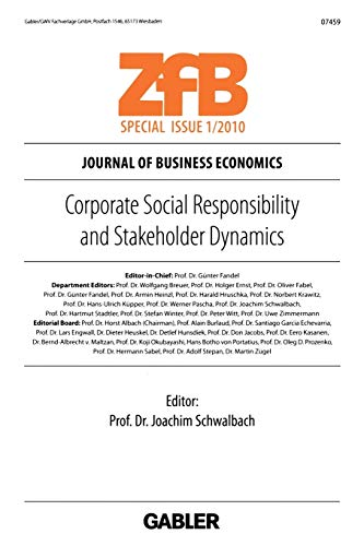 9783834919953: Corporate Social Responsibility and Stakeholder Dynamics (ZfB Special Issue)