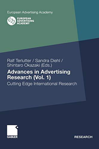 Advances in Advertising Research (Vol. 1): Cutting: Ralf Terlutter, Sandra