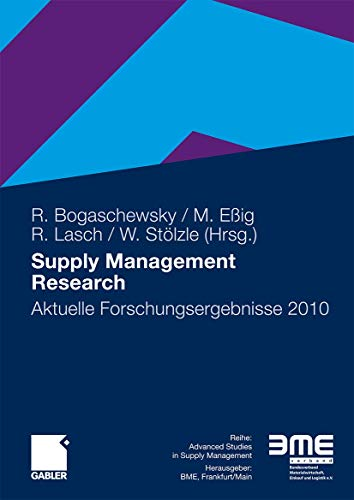 9783834922625: Supply Management Research