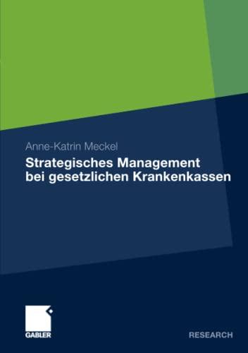 9783834925114: Strategisches Management bei gesetzlichen Krankenkassen