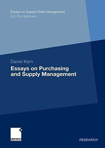 9783834929877: Essays on Purchasing and Supply Management (Essays on Supply Chain Management)