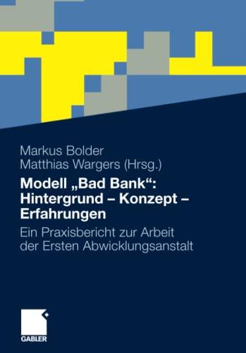 9783834933454: Modell Bad Bank