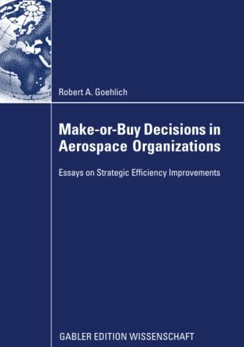 9783834946614: Make-or-Buy Decisions in Aerospace Organizations: Essays on Strategic Efficiency Improvements