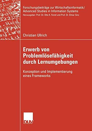 Erwerb von Problemlösefähigkeit mit Hilfe von Lernumgebungen: Christian Ullrich