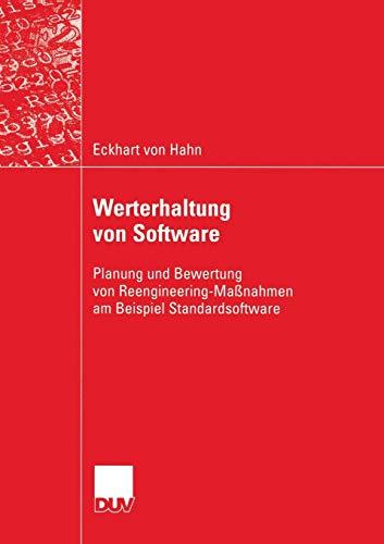 Werterhaltung von Software: Eckhart von Hahn