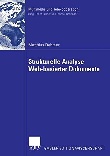 Strukturelle Analyse Web-basierter Dokumente: Matthias Dehmer
