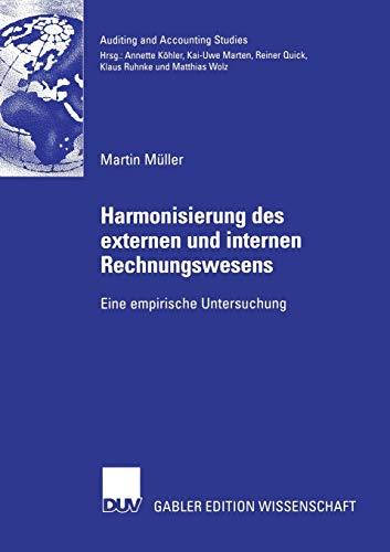 9783835004528: Harmonisierung des externen und internen Rechnungswesens: Eine empirische Untersuchung (Auditing and Accounting Studies) (German Edition)