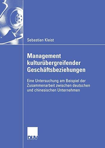 Management kulturübergreifender Geschäftsbeziehungen: Sebastian Kleist
