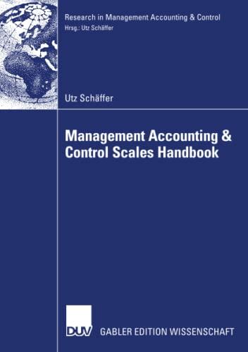 9783835005259: Management Accounting & Control Scales Handbook (Research in Management Accounting & Control)