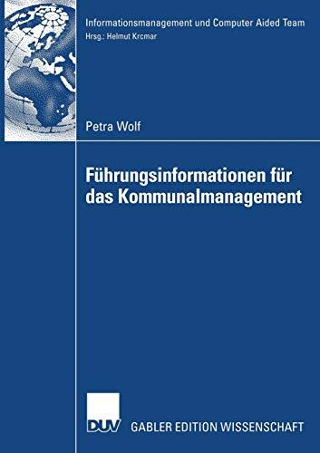 9783835005419: Führungsinformationen für das Kommunalmanagement (Informationsmanagement und Computer Aided Team)