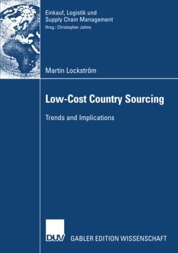 Low-Cost Country Sourcing: Lockstrà m, Martin