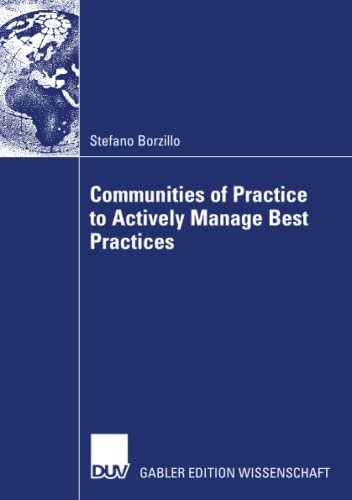 9783835007956: Communities of Practice to Actively Manage Best Practices