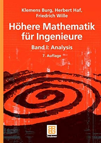 9783835100459: Höhere Mathematik für Ingenieure Band 1. Analysis: Bd 1
