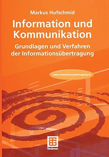 9783835101227: Information und Kommunikation: Grundlagen und Verfahren der Informationsübertragung