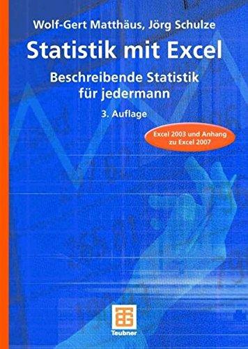 9783835101593: Statistik mit Excel: Beschreibende Statistik für jedermann