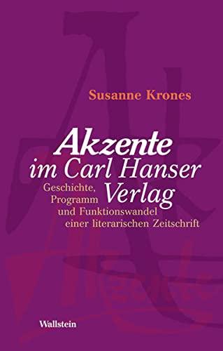 Akzente« im Carl Hanser Verlag: Susanne Krones