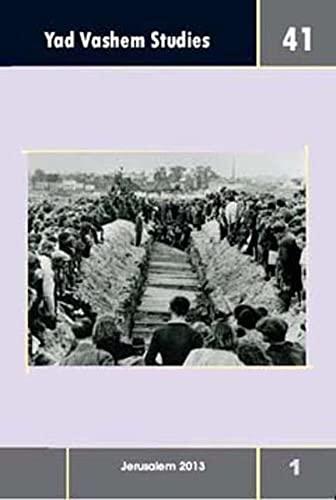 9783835315082: Yad Vashem Studies. Vol.41/1