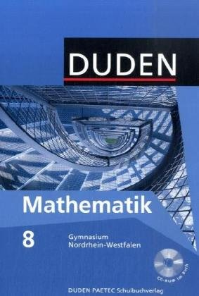 9783835510128: Mathematik 8 Lehrbuch /Duden. Nordrhein-Westfalen. Gymnasium
