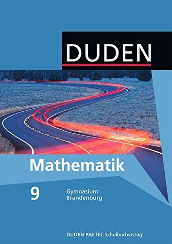 9783835510982: Mathematik 9 Lehrbuch. Brandenburg Gymnasium