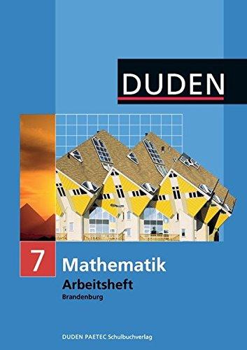 9783835511101: Mathematik 7 Arbeitsheft. Brandenburg