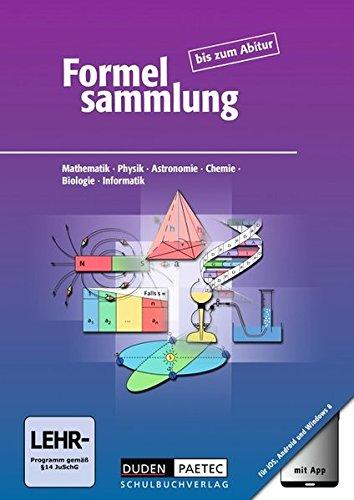 9783835512634: Formelsammlung bis zum Abitur. Allgemeine Ausgabe - Formelsammlung mit App: Mathematik - Physik - Astronomie - Chemie - Biologie - Informatik