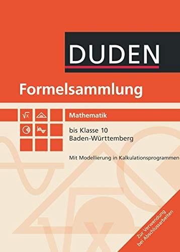 9783835512641: Formelsammlung Mathematik bis Klasse 10. Baden-Württemberg