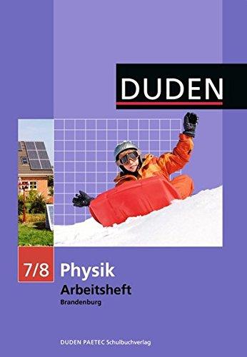 9783835530836: Physik 7/8 Arbeitsheft. Brandenburg