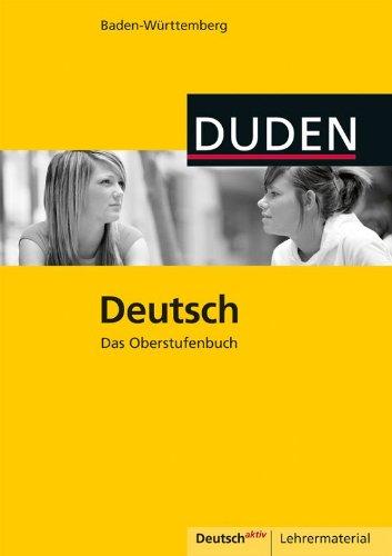 9783835565210: Lehrbuch Deutsch. Das Oberstufenbuch Baden-W�rttemberg