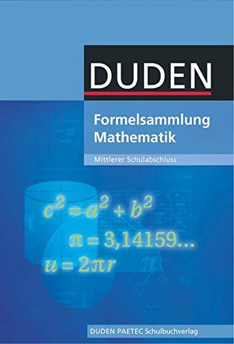 9783835590106: Formelsammlung Mathematik mittlerer Schulabschluss