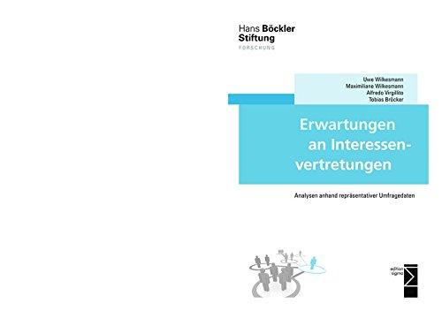 9783836087261: Erwartungen an Interessenvertretungen: Analysen anhand repräsentativer Umfragedaten