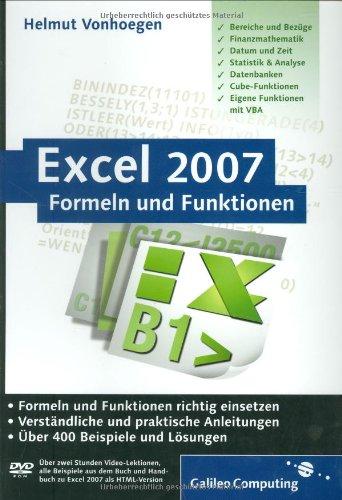 9783836210706: Excel 2007 - Formeln und Funktionen (Galileo Computing)