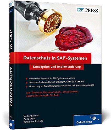 9783836216852: Datenschutz in SAP-Systemen: Konzeption und Implementierung