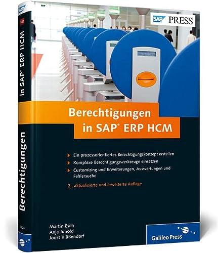 9783836218269: Berechtigungen in SAP ERP HCM: Konzeption, Implementierung, Betrieb